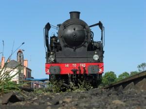 La 141 TD 740 en gare de Paimpol (22) lors de la saison estivale 2011. 07/07/11