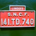 Plaque de la locomotive.